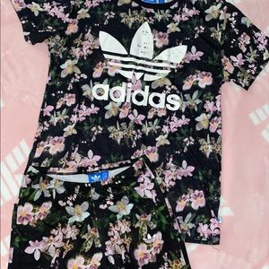 Adidas Floral Track Set UK SIZE 6